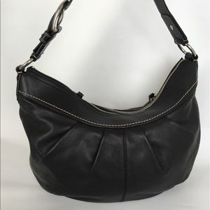 Coach Leather Hobo Bag Black